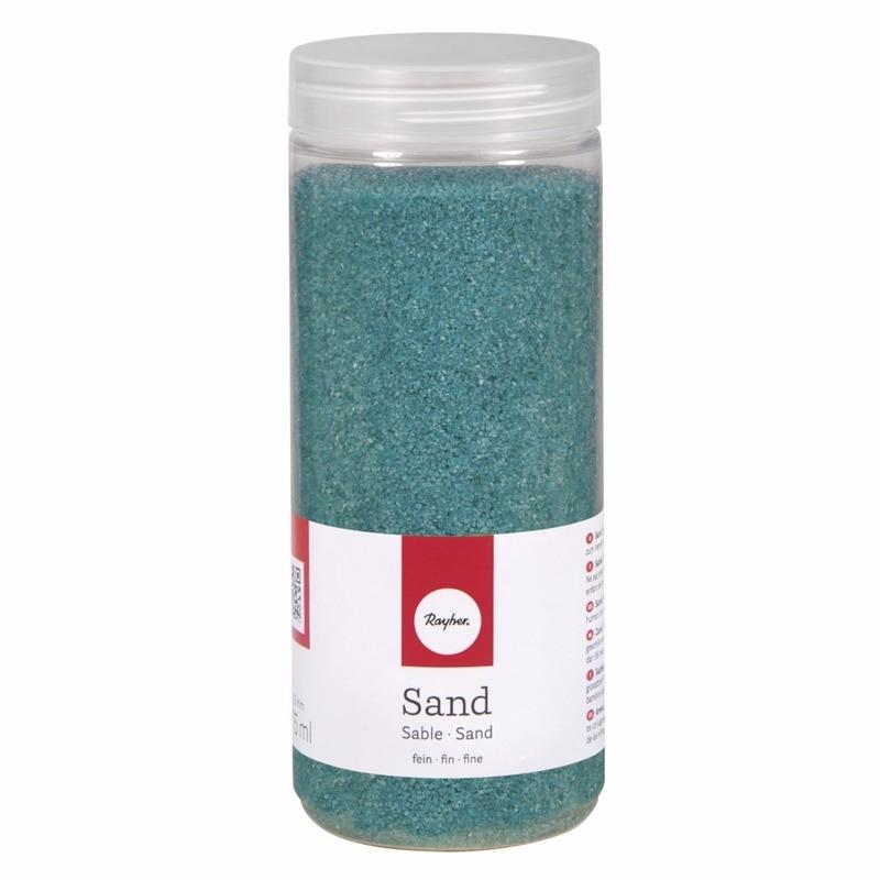 Beige versiering fijn turquoise
