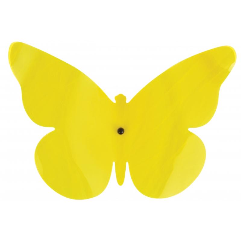 Gekleurde muurvlinder geel 25 cm