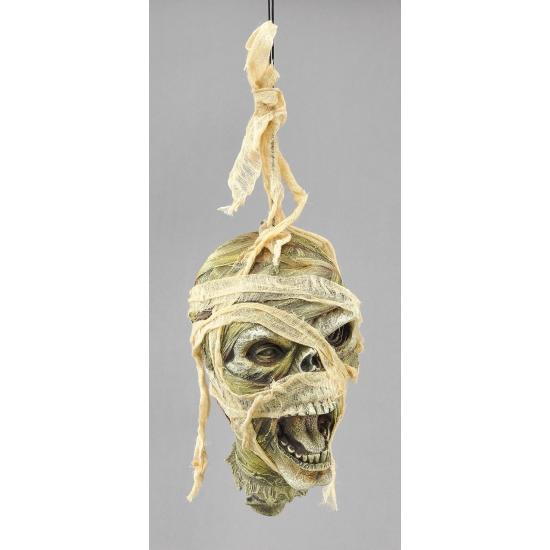 Mummie hoofd aan touw