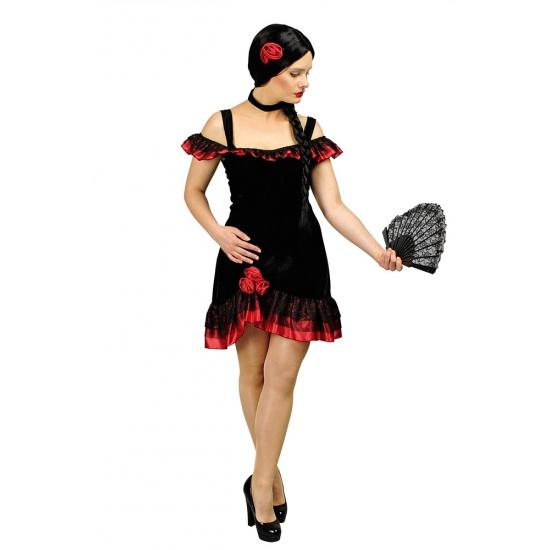 Spaanse jurk voor vrouwen kort incl. accessoires