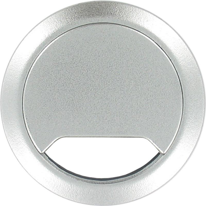 2x Kabeldoorvoer aluminium zilver 80 mm