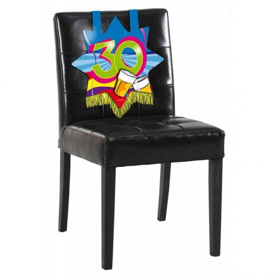 30 jaar verjaardags bord voor op een stoel