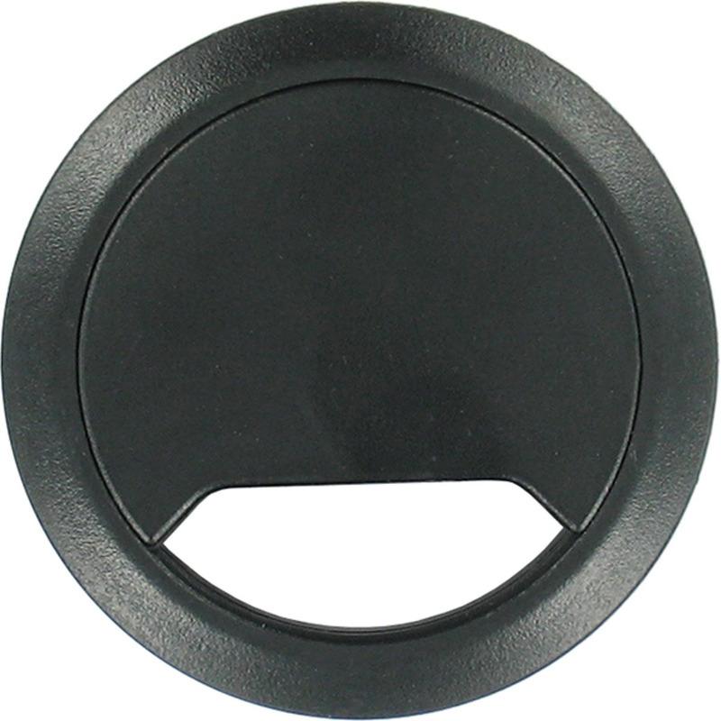 3x Kabeldoorvoer zwart 80 mm