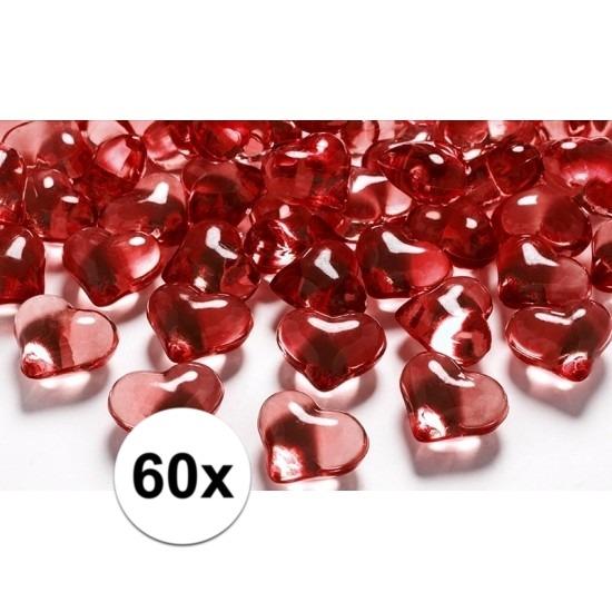60 hart diamanten rood 2 cm