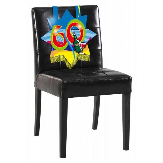 60 jaar verjaardags bord voor op een stoel