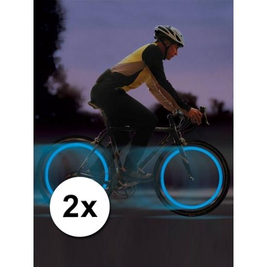 Blauw LED lampje voor fietswiel