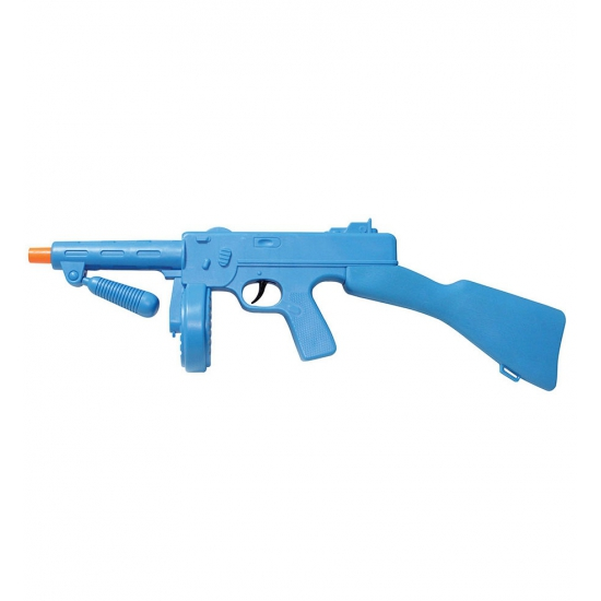 Blauw speelgoed machinegeweer 49 cm