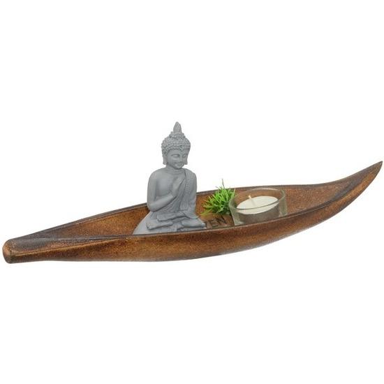 Boeddha decoratie met plateau 6 delig