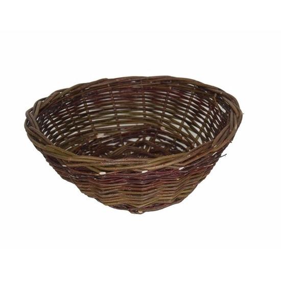Decoratie bruine rieten mand 40 cm