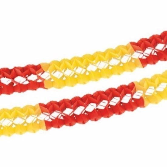 Decoratie slingers rood-geel 4 m