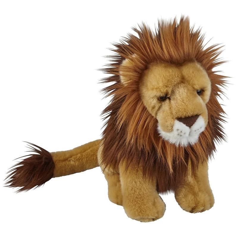 Dieren knuffels leeuw bruin 28 cm