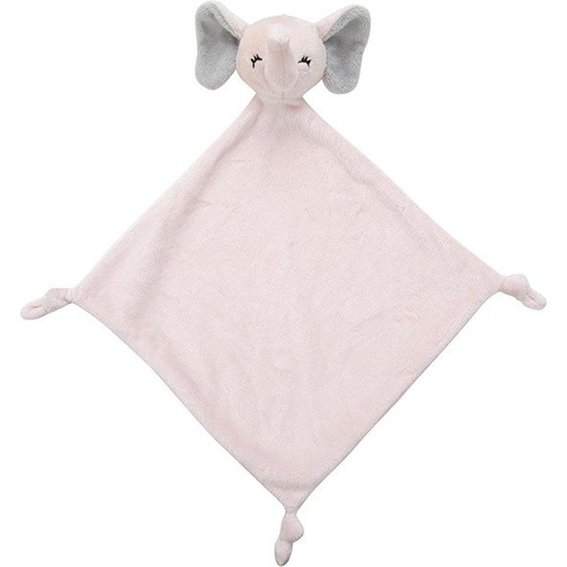Dieren tutteldoekjes knuffels olifant roze 40 cm