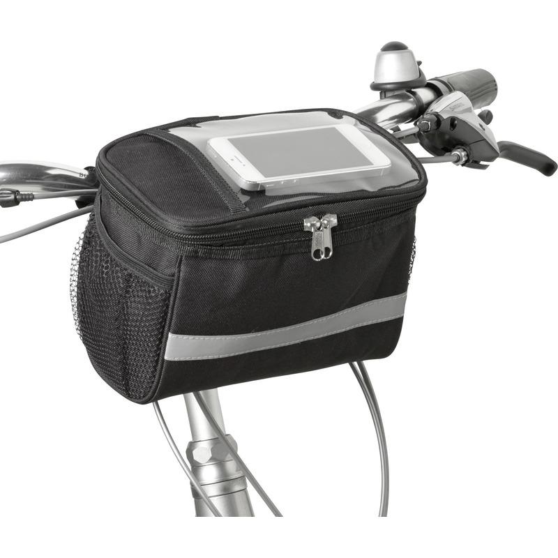 Fiets koeltas-stuurtas zwart-grijs 4 liter