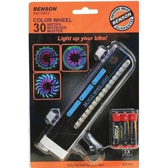 Fietsverlichting wieldecoratie LED 30 motieven