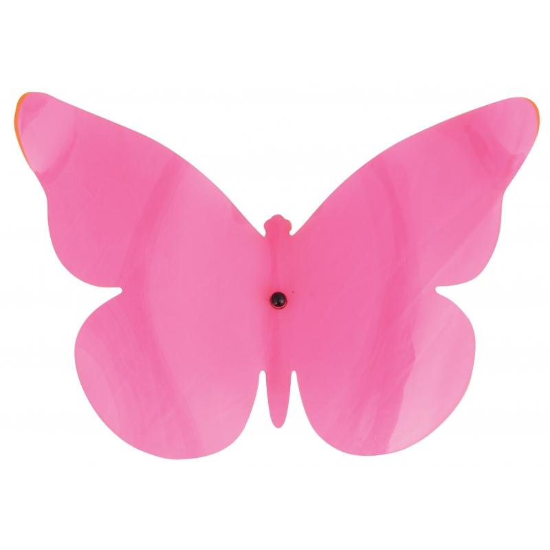 Gekleurde muurvlinder roze 25 cm
