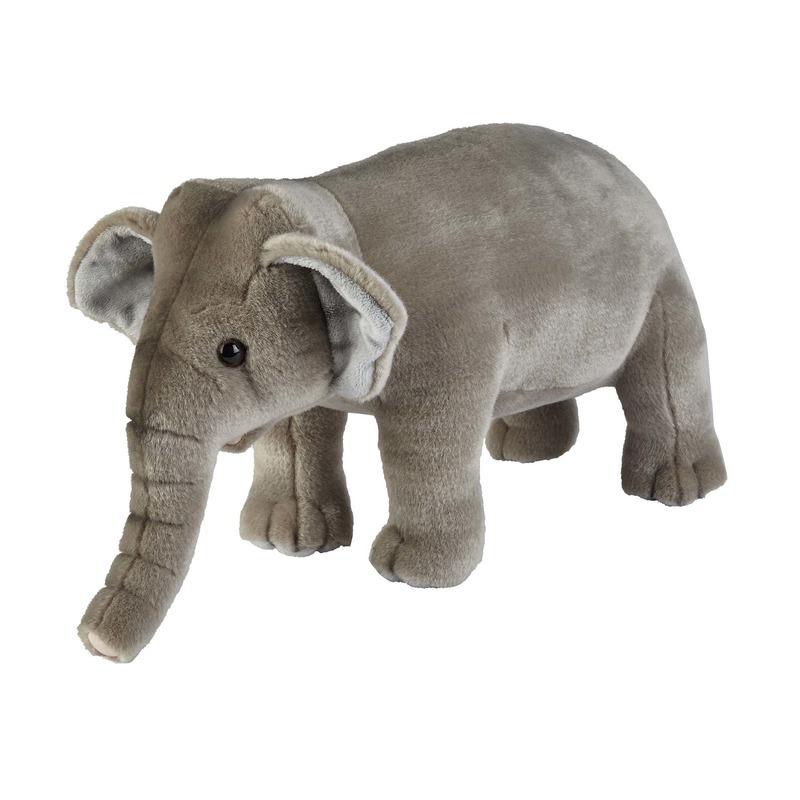 Grijze grote olifanten knuffels 50 cm