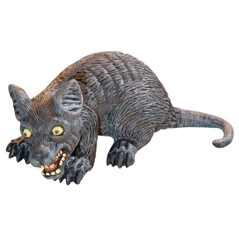 Halloween dieren grote rat 32 cm