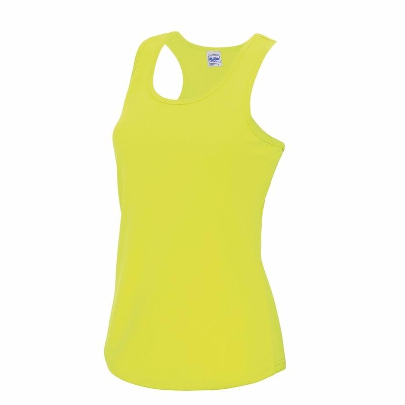 Hardloopkleding neon geel dames singlet