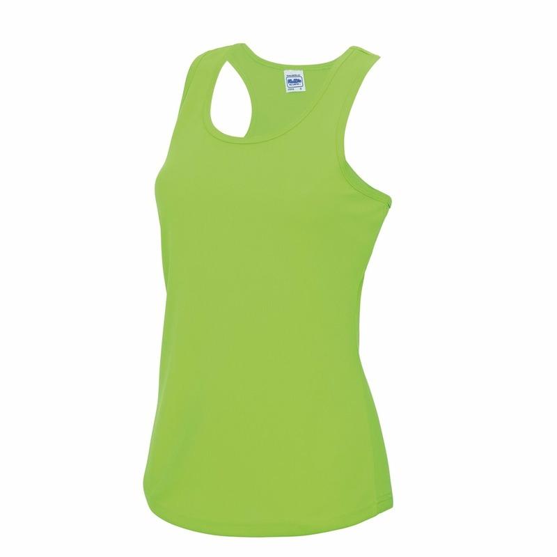 Hardloopkleding neon groen dames singlet