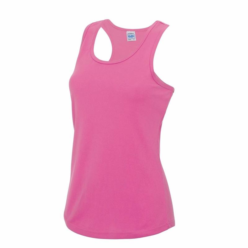 Hardloopkleding neon roze dames singlet