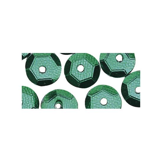Hobby pailletten groen 6 mm