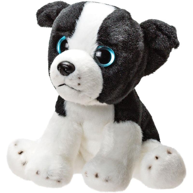 Honden knuffels border collie wit 14 cm