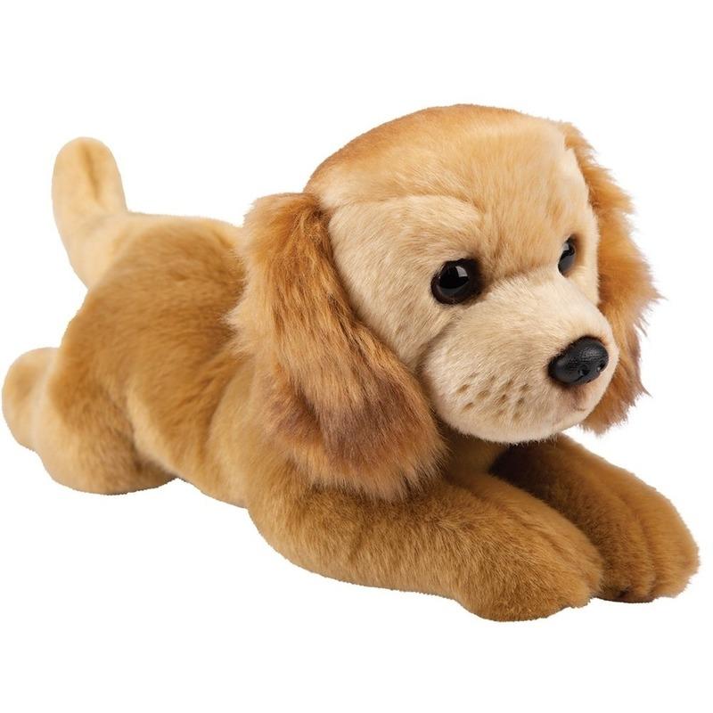Honden knuffels golden retriever bruin 30 cm