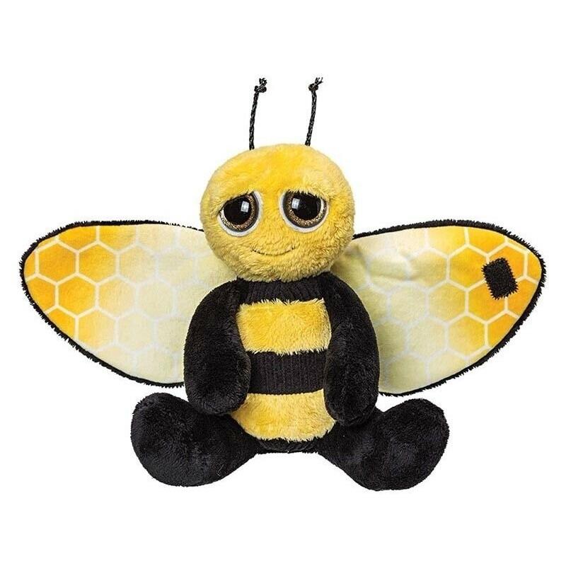 Insecten knuffels bij zwart-geel 18 cm