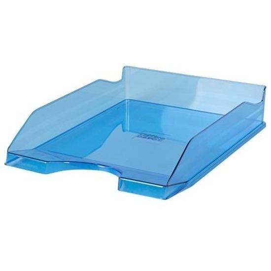 Kantoorartikelen postbak transparant blauw A4