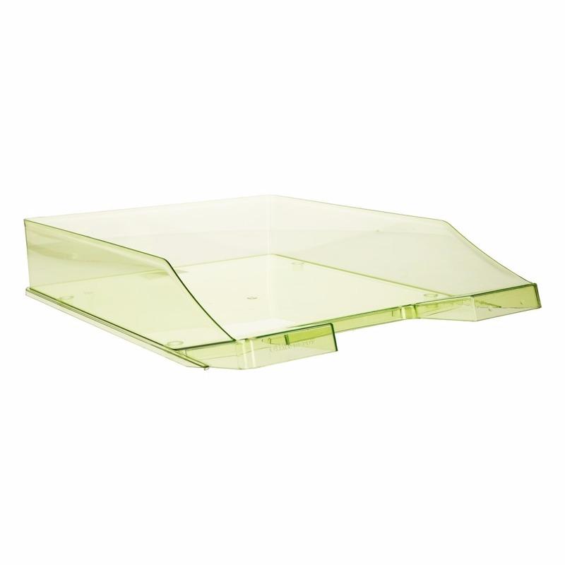 Kantoorartikelen postbak transparant groen A4
