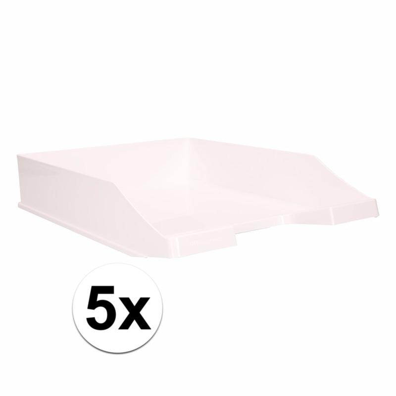 Kantoorartikelen postbak wit A4 5 x