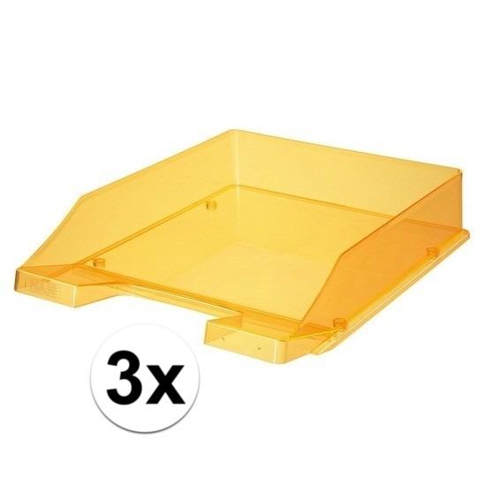 Kantoorartikelen postbakjes HAN transparant oranje A4
