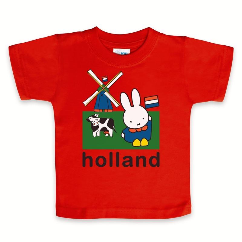 Kraamkado rood Nijntje Holland t-shirt
