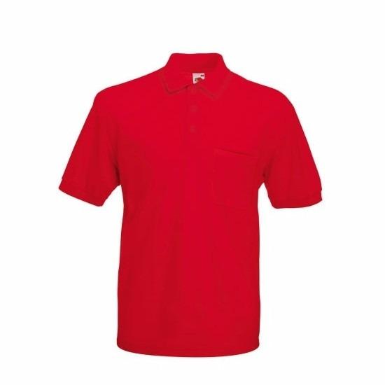 Kreukvrije werkkleding rood poloshirt katoen