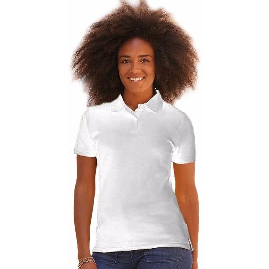 Kreukvrije werkkleding wit poloshirt katoen