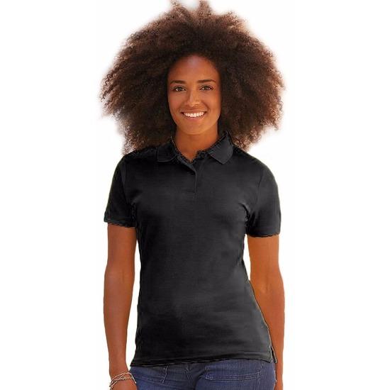 Kreukvrije werkkleding zwart poloshirt katoen