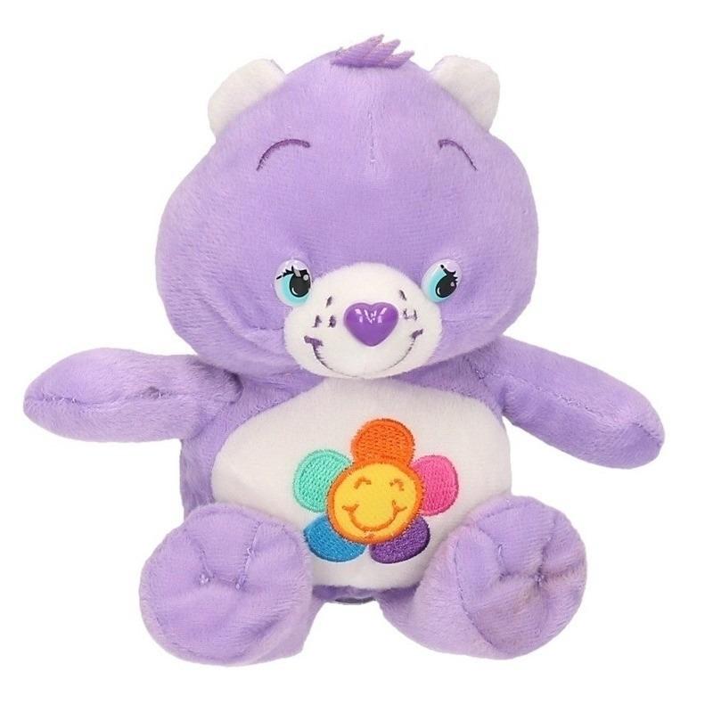 Lila Care Bears knuffel 18 cm