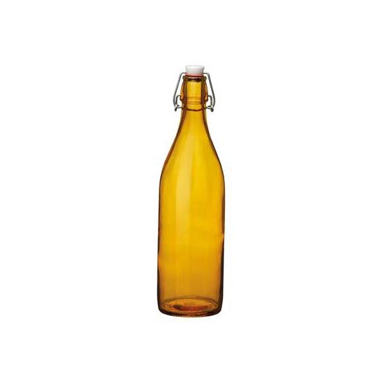 Oranje giara decoratie flessen