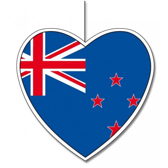 Papieren hart in Nieuw Zeelandse kleuren 30 cm