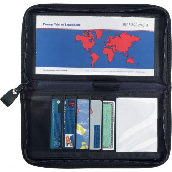 Paspoorthouder met ritssluiting