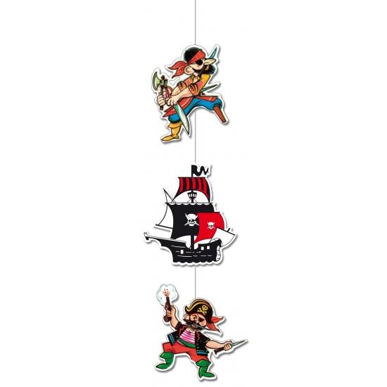 Piraten decoratie met 2 piraten 90 cm