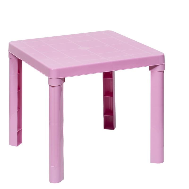 Kindermeubels Tafel Stoel.Roze Kindermeubels Tafel Met 1 Stoel