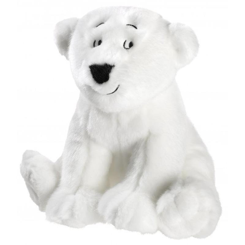 Pooldieren knuffels de kleine ijsbeer wit 25 cm