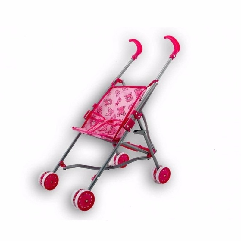 Poppen kinderwagen roze