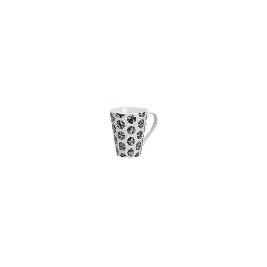 Retro koffie mok rondjes wit 250 ml