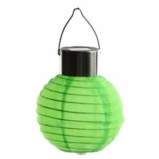 Ronde solar party lampion groen 10 cm