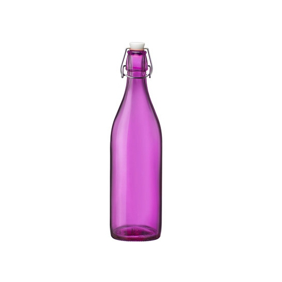 Roze giara decoratie flessen