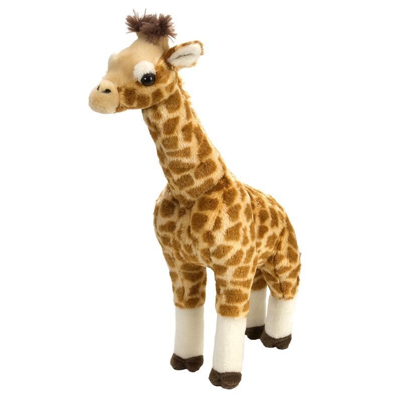 Safari dieren knuffels giraffen gevlekt 43 cm