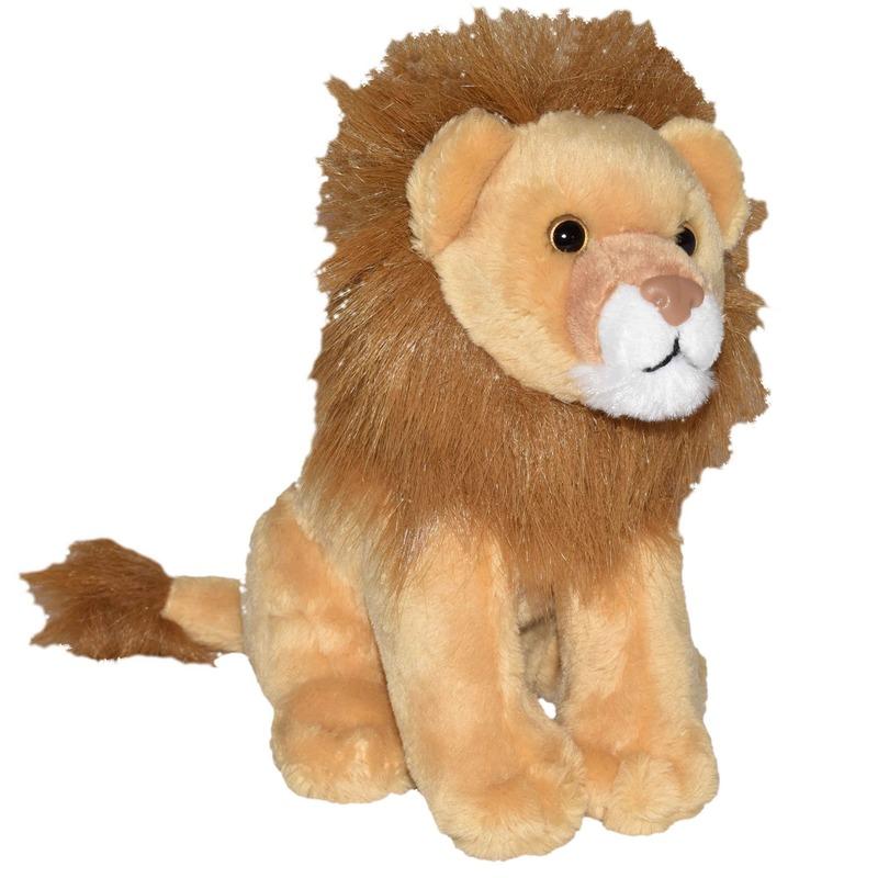Safaridieren knuffels leeuw bruin 20 cm