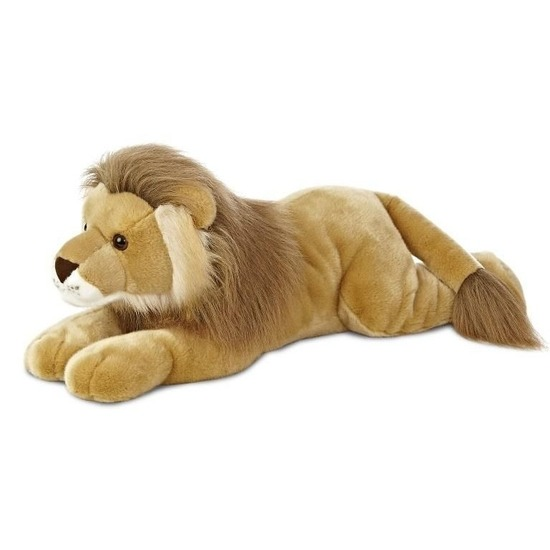 Safaridieren knuffels leeuw bruin 70 cm